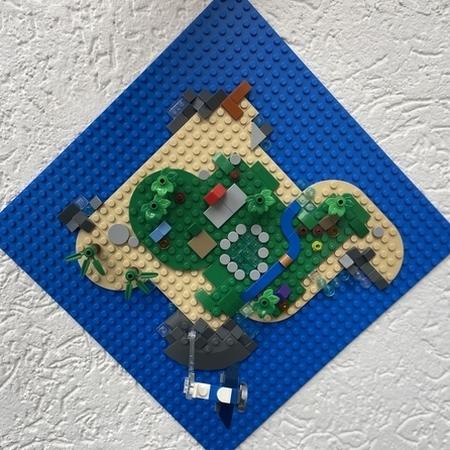 Foto satellitare dell isola di Animal Crossing