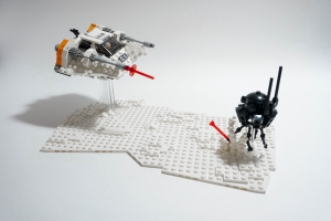 Snowspeeder VS Probe droid