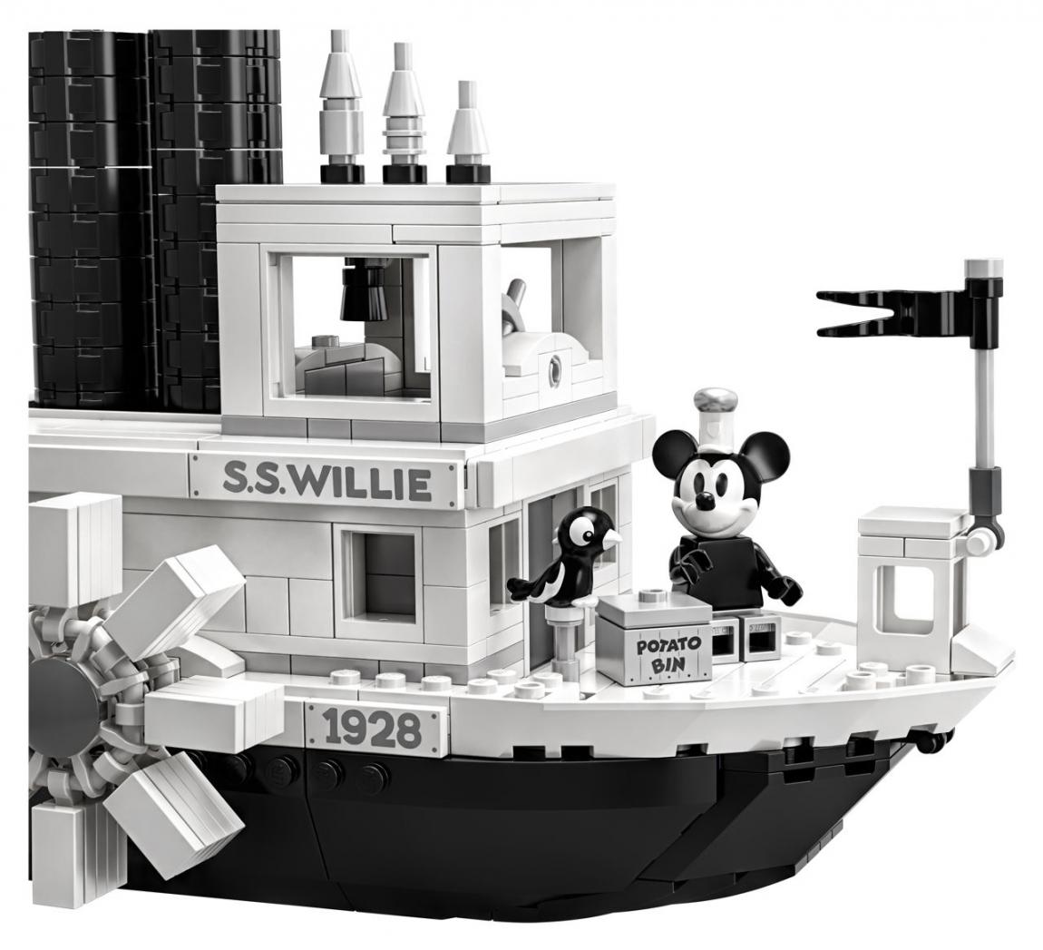 Lego® ideas 21317 steamboat willie mickey mouse topolino otlug