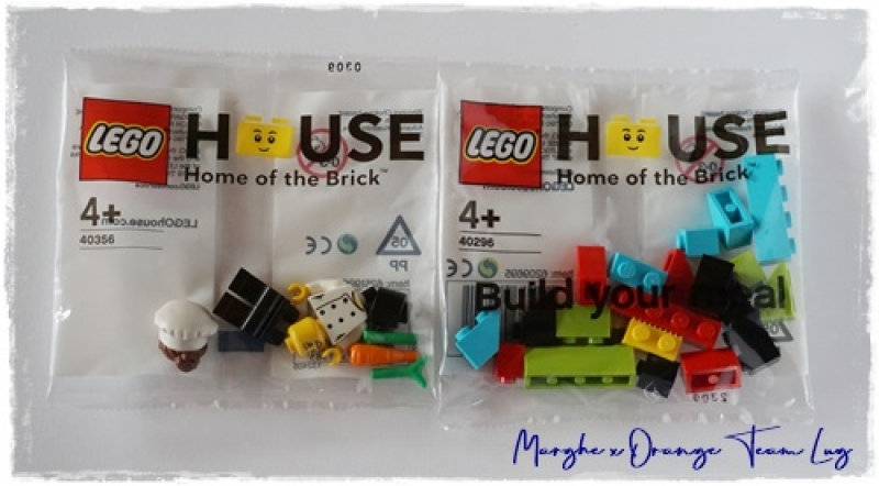 40356 + 40296 THE CHEF AND BUILD YOUR MEAL: minifig e polybag LEGO® House Exclusive