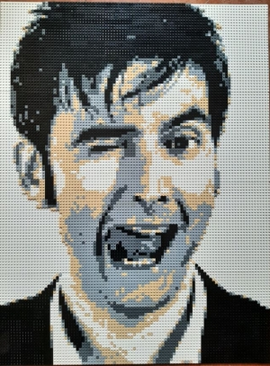 David Tennant Lego Portrait